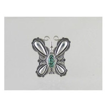 Sterling Silver Turquoise Butterfly Ring Size 7