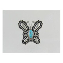 Sterling Silver Turquoise Butterfly Ring Size 6