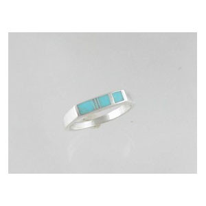Sleeping Beauty Turquoise Inlay Band Ring Size 12