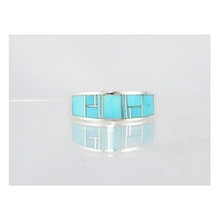 Sleeping Beauty Turquoise Inlay Ring Size 10 1/2