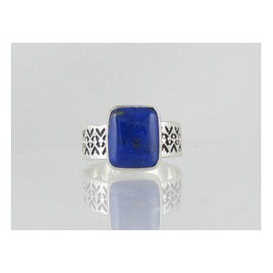 Sterling Silver Lapis Ring Size 8 1/2