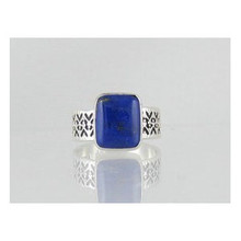 Sterling Silver Lapis Ring Size 9