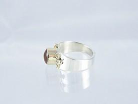 14k Gold & Silver Amethyst Ring Size 6 (RG1705)