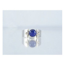 14k Gold & Silver Lapis Ring Size 8