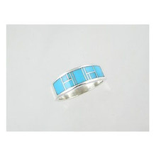 Sleeping Beauty Turquoise Inlay Ring Size 10