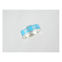 Sleeping Beauty Turquoise Inlay Ring Size 13