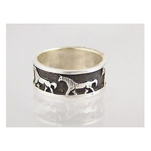 Sterling Silver Horse Ring Size 7