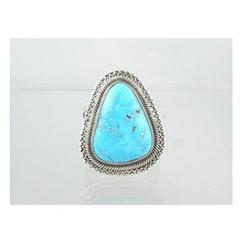 Natural Turquoise Mountain Gem Ring Size 9 1/4
