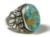 Handmade Natural Web Royston Turquoise Ring Size 10 1/2 by Friston Toledo, Navajo