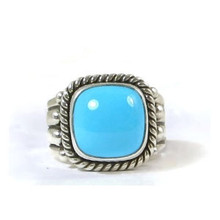 Sleeping Beauty Turquoise Ring Size 5 by Raymond Coriz, Santo Domingo