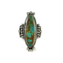 High Grade Royston Turquoise Ring Size 9 1/2 by Guy Hoskie