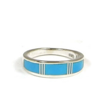 Turquoise Inlay Band Ring Size 5