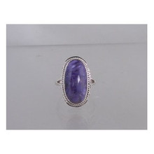 Sterling Silver Charoite Ring Size 8 1/2