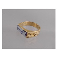 14k Gold Sugilite & Opal Inlay Ring Size 7 1/2