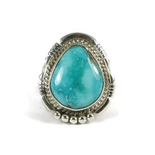 Battle Mountain Turquoise Ring Size 8 1/4 by San Felipe, Phillip Sanchez