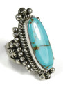 Natural Royston Turquoise Ring Size 7 by Guy Hoskie