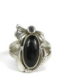 Silver Black Onyx Ring Size 7 1/2 by Les Baker Jewelry