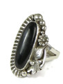 Silver Black Onyx Ring Size 6 by Les Baker Jewelry