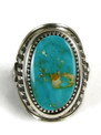 Natural Royston Turquoise Ring Size 10 by Derrick Gordon (RG4899)