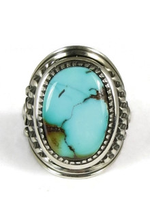 Natural Royston Turquoise Ring Size 10 by Derrick Gordon (RG5002)