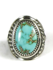 Natural Royston Turquoise Ring Size 10 by Derrick Gordon (RG5003)