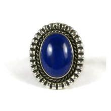 Silver Lapis Ring Size 7 by Jim Bedah