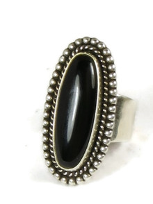 Silver Black Onxy Ring Adjustable Size 7 - 8 by Diana Wylie