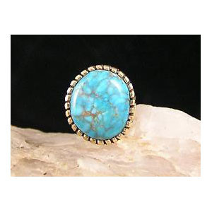 Natural Webbed Morenci Turquoise Gold Tie Tac #2