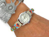 Multi Gemstone Scultped Inlay Watch
