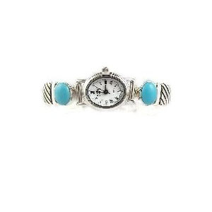 Contemporary Sleeping Beauty Turquoise Toggle Watch