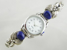 Sterling Silver Lapis Watch (WTH453)