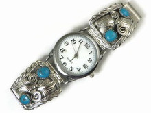 Sterling Silver Turquoise Watch - Native American Watch (WTH507)