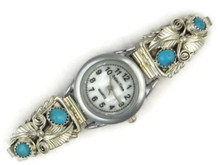 Sterling Silver Turquoise Watch for Women