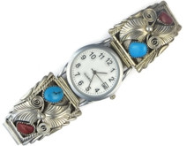 Turquoise & Coral Watch for Men (WTH537)