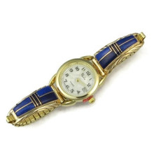 12k Gold Lapis Inlay Watch