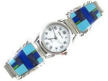 Multi Gemstone Inlay Watch (WTH581)