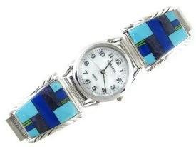 Multi Gemstone Inlay Watch (WTH582)