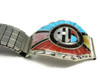 Don Dewa Zuni Sun Face Inlay Watch Band with Spinner