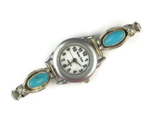 Sterling Silver Turquoise Watch (WTH925)