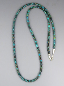 """Long Turquoise Bead Necklace 36"""""""