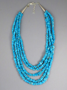 Five Strand Turquoise Nugget Necklace