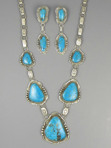 Kingman Turquoise Necklace Set by Will Denetdale