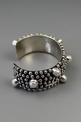 Sterling Silver Cross Pearl Cuff Bracelet by Happy Piaso
