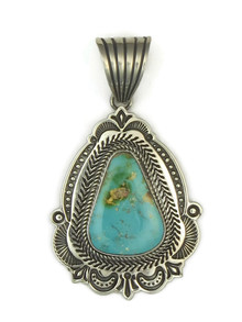 Handmade Royston Turquoise Pendant by Albert Jake