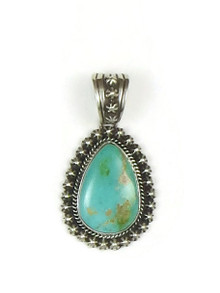 Natural Pilot Mountain turquoise pendant by Happy Piaso.