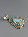 Handmade Pilot Mountain Turquoise Pendant by Albert Jake