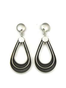 Silver Channel Loop Earrings by Francis Jones