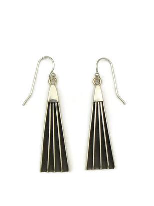 Silver Channel Earrings by Francis Jones