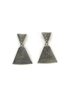 Silver Maze Earrings by Elgin Tom