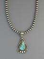 Handmade Pilot Mountain Turquoise Pendant by Derrick Gordon